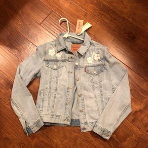 Levi's light denim embroider flower Jean jacket